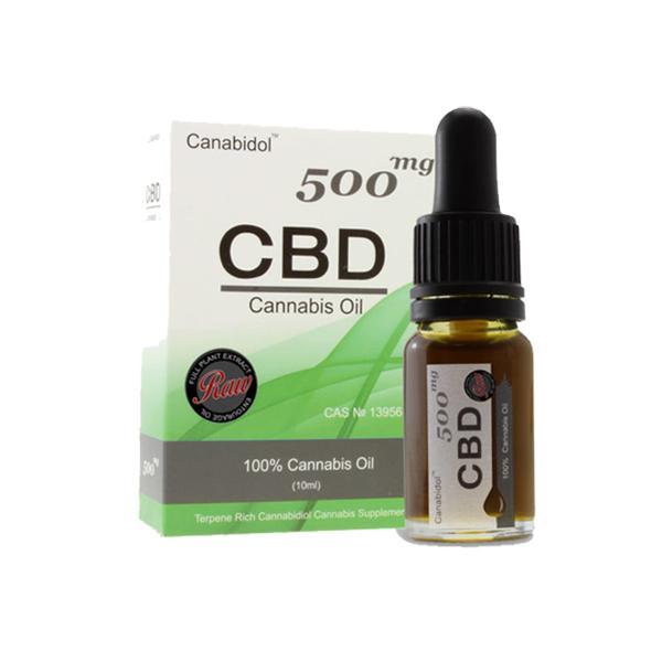 Canabidol 500mg CBD Raw Cannabis Oil Drops 10ml