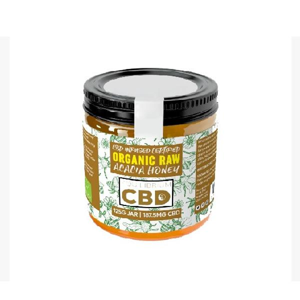 Equilibrium 187.5mg CBD Organic Raw Acacia Honey 125g
