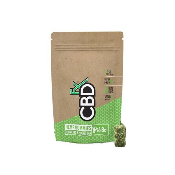 CBDFX 40mg CBD Gummies 8ct Pouch - Turmeric & Spirulina