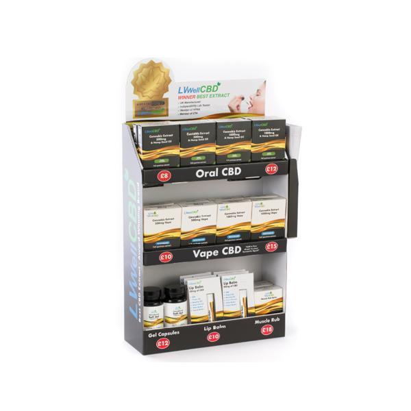 LVWell CBD 15 Piece General CBD Retail Starter Pack