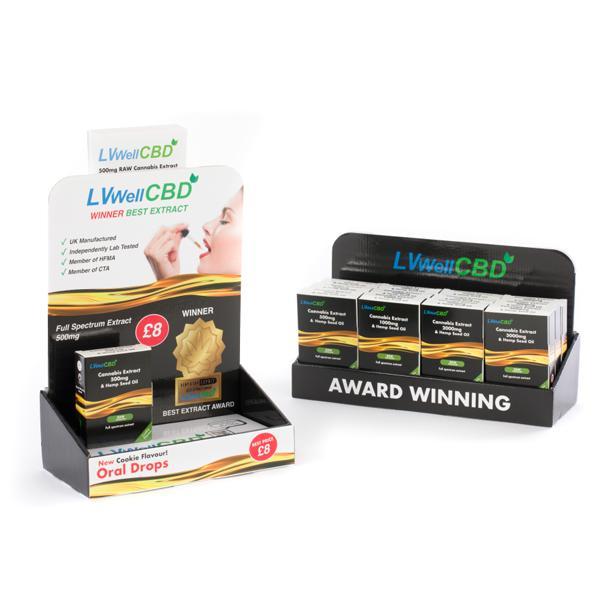LVWell CBD 12 Piece Raw CBD Retail Starter Pack
