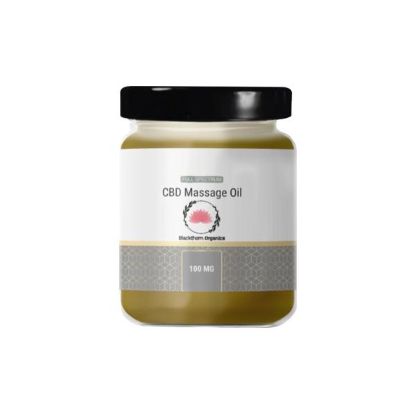 Blackthorn Organics Massage Oil 100mg CBD 95g