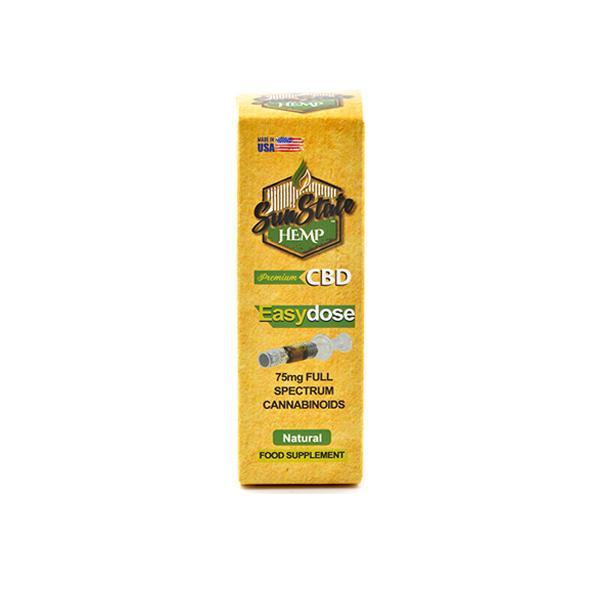 Sun State Hemp 75mg CBD Easy-Dose Syringe 1ml