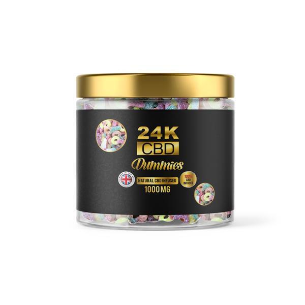 24K 1500mg CBD Premium Gummies
