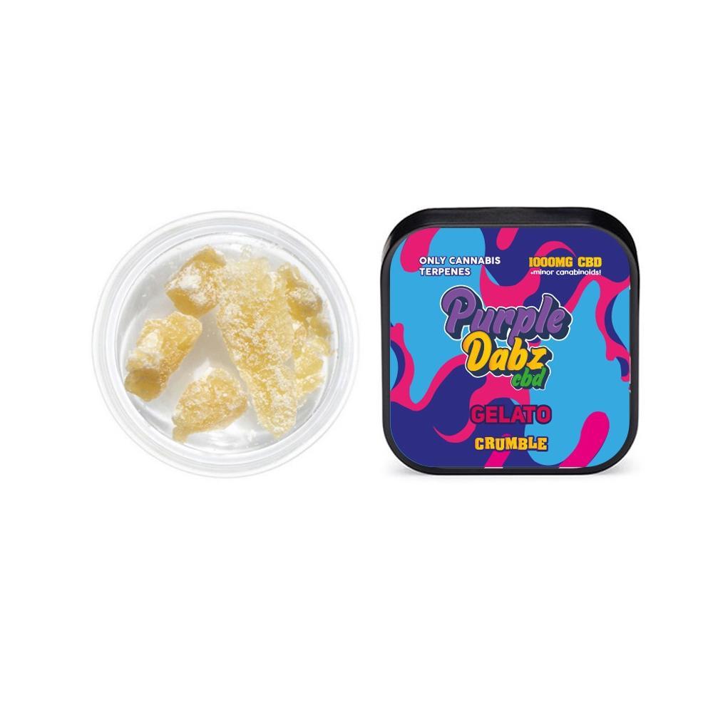 Purple Crystals by Purple Dank 1000mg CBD Crystals - Sour Diesel