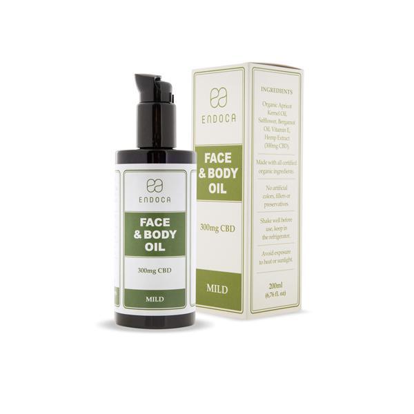 Endoca 300mg CBD Face & Body Oil - 200ml