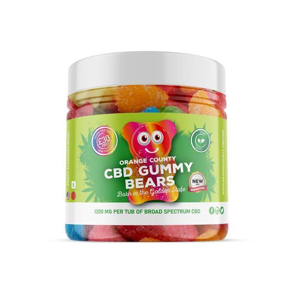 Orange County 800mg CBD Gummy Bears - Small Pack